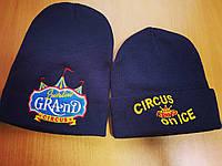 Вышивка логотипа на зимних шапках