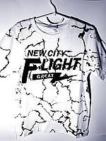 Стильная белая футболка на 8 лет( Польша)