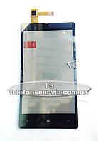 Сенсорный экран для Nokia Lumia 820, черный