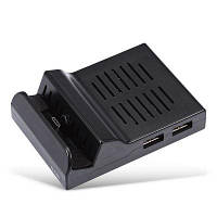 HDMI Базовый кронштейн адаптера конвертера с 3 USB портами и одним интерфейсом типа-C для Switch Чёрный