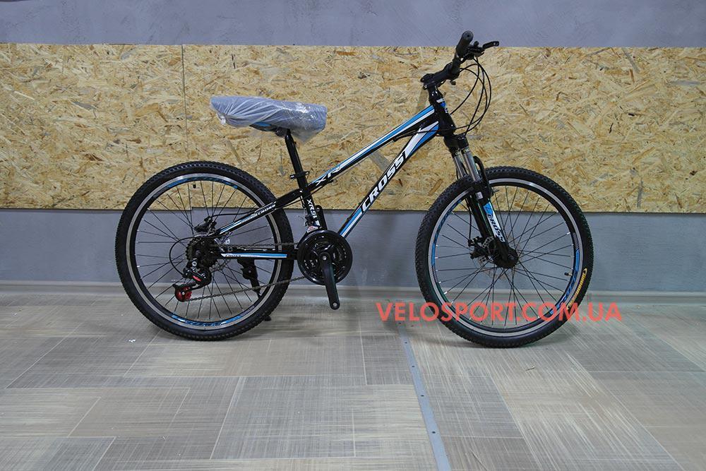 Подростковый велосипед Cross Racer 24 дюймов - Интернет магазин velosport.com.ua продажа велосипедов и аксессуаров в Одессе