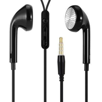 K11 Наушники с плоской головкой с управлением на шнуре и микрофоном Чёрный, фото 2
