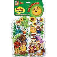 """Беби-пазлы Vladi Toys """"Сказки. Колобок"""""""