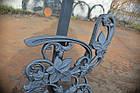 Боковина лавки садово-парковой чугунная с подлокотником № 18, фото 5
