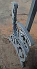 Боковина лавки садово-парковой чугунная с подлокотником № 18, фото 7