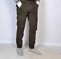 Однотонные мужские штаны  Loshan под манжет нового фасона