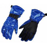 Пара противоскользящих теплых перчаток Синий