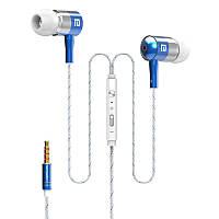 ➤Гарнитура LANGSDOM I-1 Синяя вакуумная для смартфона и планшета