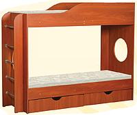 Детская двухъярусная кровать с ящиком для белья Тандем