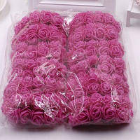 XM1 144ПК пенополистирола Розы DIY аксессуары, искусственные цветы розово-красный