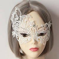 Очаровательная декоративная кружевная маска на глаза Белый