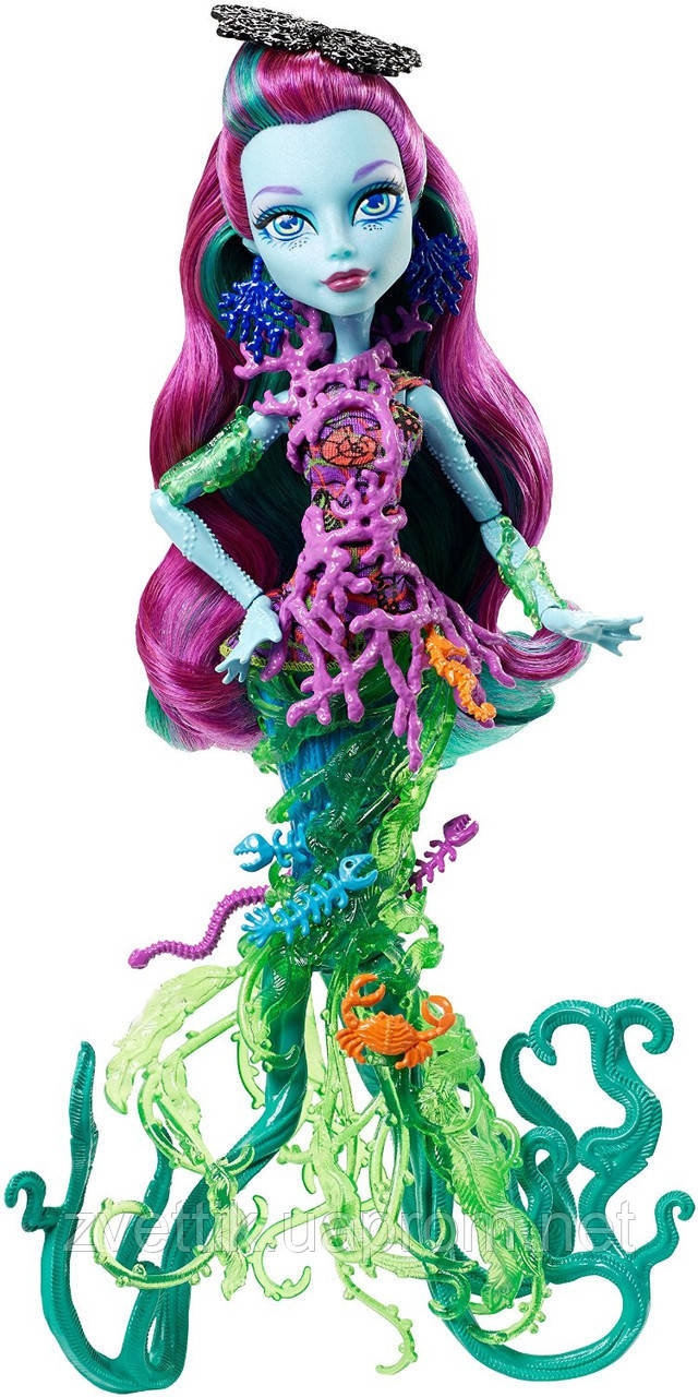 П, Кукла Monster High Great Scarrier Reef Down Under Ghouls Posea Reef Doll Поси Риф