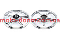 Диск колеса   1,4 * 17   (зад, барабан)   (легкосплавный) для мопеда  Alpha   ZV