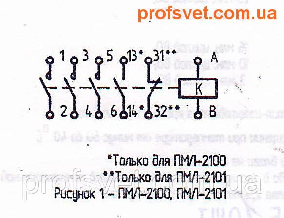 сканирование электрическая схема подключения пмл-2100 25-a