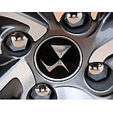 Захисні пластикові кришки на колісні гайки 21 мм хром, фото 5