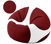 Кресло-мяч Евро в бордовом цвете, ткань Кожзам Zeus (размеры: S, M, L)