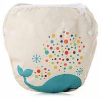 ЅМ1 Герметичный регулируемый тканевый плавательный подгузник для детей Цветной