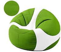 Кресло-мяч Евро в зеленом цвете, ткань Рогожка Queens (размеры: S, M, L)