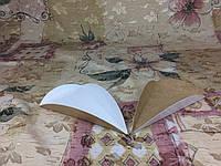 Подложка под пирожное с ушками/треугольник, белый/крафт, 80х135мм/мин 200 шт, фото 1