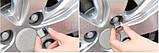 Захисні пластикові кришки на колісні гайки 21 мм хром, фото 10