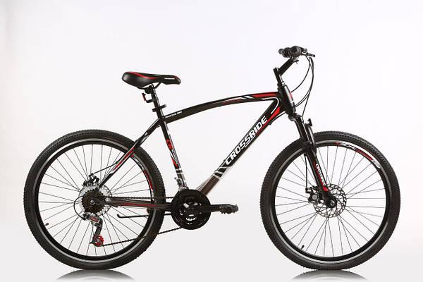 """Горный велосипед CROSSRIDE VISPO  26"""" 19""""  Черный\Красный"""