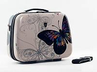 Кейс Madisson 16820 Большой, Белый с бабочкой