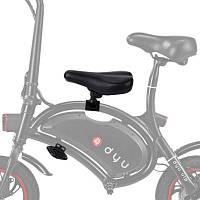 Детское седло и педали в комплекте электрического велосипеда F-wheel DYU Чёрный