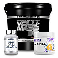 Гейнер Volumass 35 6000 g | OstroVit Creatine 300 гр | Daily Vita-Min 90 tabl.