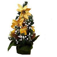 Миниатюрное новогоднее дерево для праздника декор для дома стиль 1