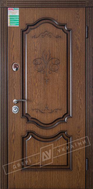 "Двери Украины БС ""ПРЕСТИЖ""  (2/2) ""KALE"" Дуб тёмный рустикаль + патина"