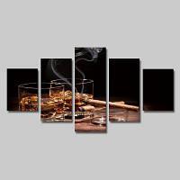 God Painting модульная картина из 5 частей с печатным рисунком ликера и дыма на холсте без рамки Цветной