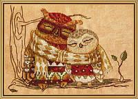 """Набор для вышивания нитками на канве с фоновым рисунком """"Семейное тепло"""", 26*18см(СР4221-У)"""
