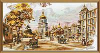 """Набор для вышивания нитками на канве с фоновым рисунком """"Старый Киев"""", 45*23см(СР2195)"""