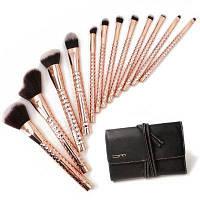 BrushMaster BM-S24 Набор профессиональных кистей для макияжа 12шт Золотой