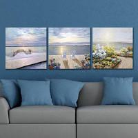 Dyc 10010 3PCS Sea Landscape Print Art готово повесить картины Цветной