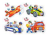 "Пазл Castorland ""Забавные профессии"" 4 х Puzzle (3,4,6,9), фото 2"