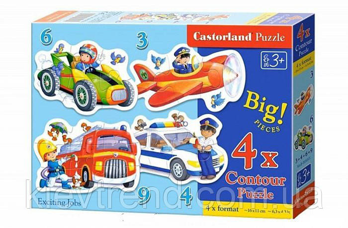 "Пазл Castorland ""Забавные профессии"" 4 х Puzzle (3,4,6,9)"