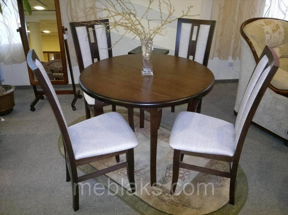 """Стол в гостинную деревянный раскладной """"Элис"""" 100(+40)х100х75 см Fusion Furniture"""