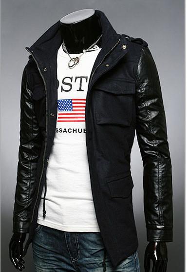 Стильная мужская кашемировая куртка черного цвета
