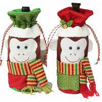 Macroart px-150 Ручной рождественский мешок для бутылки с шаблоном обезьяны 2шт Цветной