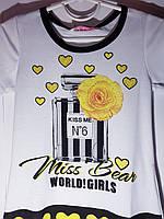 Яркая летняя футболка для девочки 4, 6 и 8 лет