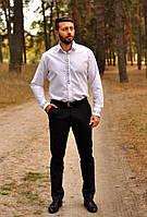 Классическая белая рубашка с вышивкой