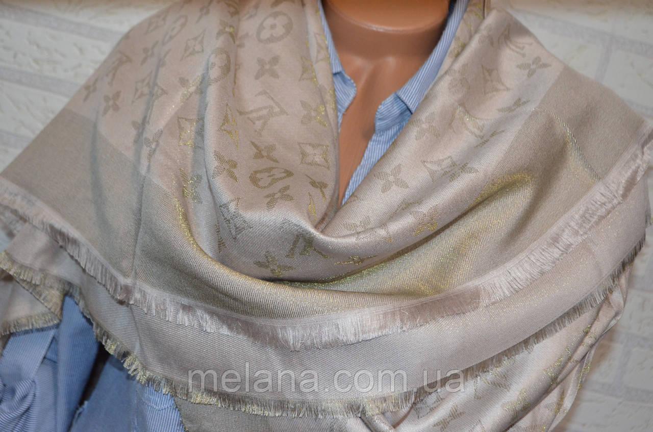 Платок с люрексом в стиле Louis Vuitton (Луи Витон) бежевый  продажа ... af401132a88