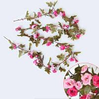 230CM 51HEADS Цветок высокой точности Роза цветок Ротанг Домашнее украшение Глубокий розовый