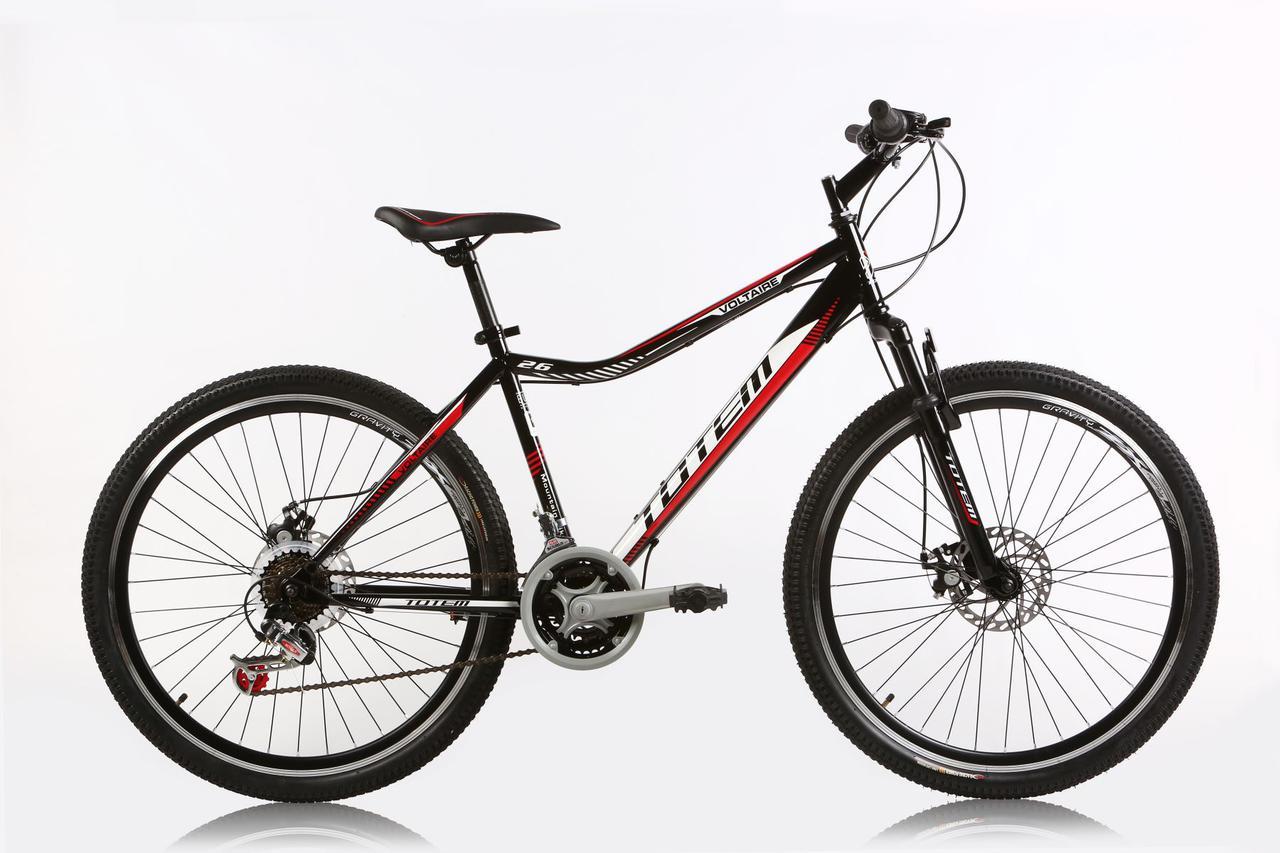 """Горный велосипед TOTEM MTB VOLTAIRE  26"""" 17""""  Черный/Красный"""