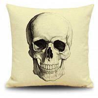 Декоративная наволочка на подушку с рисунком череп для Хэллоуина Цветной