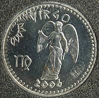 Монета  Сомали 10 шиллингов 2006 г. Дева