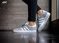 Аdidas Gazelle Mid Grey/Ftwr White/Gold Metallic.Интернет магазин спортивной обуви. Стильные кроссовки.
