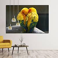 Картина - Желтые попугаи