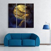 МК специальная Конструкция Бескаркасных картины женщина в лунном свете 3 9 x 28 дюймов (24cм x 70cм)